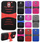 For HTC Desire 610 Hard Gel Rubber KICKSTAND Case Phone Cover + Screen Guard