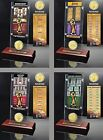 Choose Your NBA Team Champions Ticket & Bronze Medallion Coin Desktop Acrylic
