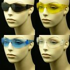 SAFETY SUN GLASSES CLEAR LENS Z87+ MEN WOMEN NEW SPORT SHOOT BIKE SMOKE MP40