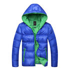 Men Down Jacket Padded Hooded Bubble Winter Warm Cotton-padded Bomber Down Coats