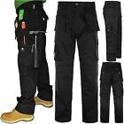 MENS TUFF EXTREME PRO WORK HEAVY DUTY MULTI POCKET PANTS STITCHED TROUSER 30-46