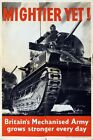 World War Two British Tank Regiment Poster  A3 Print