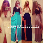 Sexy Women V Neck Lace Bodycon Long Party Evening Cocktail Formal Maxi Dress SML