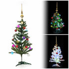 Artificial Indoor Decorated Christmas Tree With Baubles LED Lights & Topper Set