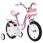 """R BABY LITTLE SWAN PRINCESS GRIL'S PINK BIKES IN SIZE 12"""" 14"""" 16"""" 18"""" 4  SIZES."""