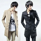 New Long Parka Winter Coat Mens Jacket Outwear Business Dress Tops Slim Fit XS-L
