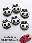 Skull Bow Resin Flatback 6/25/50/100pcs 23mm x 21mm Resin Cabochons Bows DIY