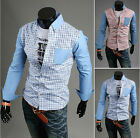 FM Hot-Sale !new top men's fashion casual long-sleeved plaid shirt USJJL