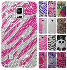 For Samsung Galaxy Note 4 Crystal Diamond BLING Hard Case Phone Cover Accessory