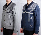 Mens Cardigan Knitted Button Jumper Heritage Knitwear Sweater Winter V-Neck Top