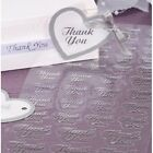 47pc Thank you Gold or Silver Clear Wedding Stickers Victoria Lynn
