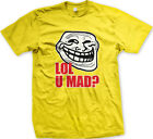 LOL, U MAD? You mad bro? Funny Internet Meme Men's TShirt Popular and Hilarious