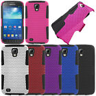 For AT&T Samsung Galaxy S4 Active I537 I9295 Mesh Hybrid Rubber Hard Case Cover