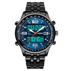 Luxury Men's Analog Digital Stainless Steel LED Army Military Sport Wrist Watch