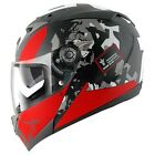 SHARK S700S TRAX MAT STREET STYLED PINLOCK MOTORCYCLE HELMET MATT BLACK RED