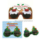 Novelty Christmas Xmas Party Glittery Sparkly Sunglasses Fun Festive Glasses