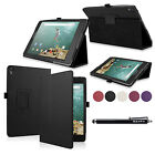 Premium Leather Smart Wake Case Cover for Google Nexus 9 Tablet by HTC 8.9-Inch