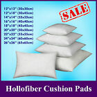 "HollowFiber Cushion Pad Insert Filler Inner 12"" 14"" 16"" 18 20 22 24"" 26"" 28"" 30"""