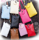 Womens Lovely Small Mobile Phone Bags Coin Satchel Shoulder Messenger Bag Weave