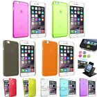 Color Clear Hard Snap-On Case+Dash Holder+Home Button Sticker For iPhone 6 4.7""