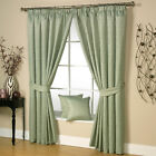 Luxury Woven Ivy Stem Ravalli Contemporary Pair Of Tape Top Ready Made Curtains