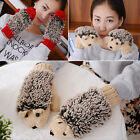 1pair New Cute Lovely Hedgehog Gloves Mittens for Ladies and Girls 4Color Choice
