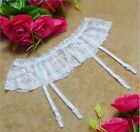 Sexy Lady 2 Layer Floral Lace Garters Stocking Suspender Belt (3 colors)