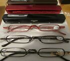 12 pair Thin Slim Light READING GLASSES  quality readers with case Mens Womens