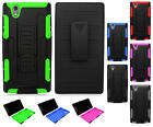 For T-Mobile ZTE ZMAX Z970 COMBO Belt Clip Holster Case Phone Cover Kickstand