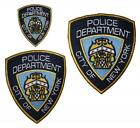 CSI NYPD New York Police Shield Embroidered Patch Badge Sew / Iron-on 3 sizes