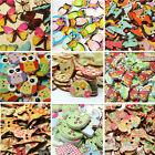 Colorful Mixed Animal Wooden Button Sewing Scrapbook Craft Flatback Cardmaking