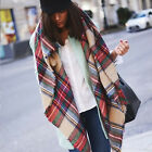 Blanket Oversized Tartan Scarf Plaid Checked Wrap Shawl Bloggers WOMEN