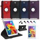 360 Rotating Leather Flip Case Cover Stand For Samsung Galaxy Tab 4 8.0 8 T330