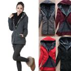 Women Warm Faux Fur Hoodie Coat Zip Up Jacket Ladies Casual Hooded Tops Sweater