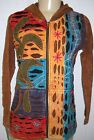 RISING INTERNATIONAL NEPAL FAIR TRADE HIPPIE HOODIE Cotton JACKET PATCHWORK