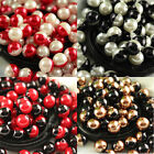 8-16mm Bubblegum Beads red/black Pearl Chunky Jewelry making Necklace pk color