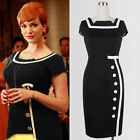 NEW Women office Optical Illusion Colorblock business formal Bodycon Party dress