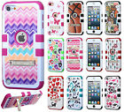 iPod Touch 5th 6th Gen Rubber IMPACT TUFF HYBRID KICK STAND Case Phone Cover