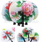 6/12 Chinese Paper Folding Hand Fan Oriental Fancy Dress Party Wedding Favors