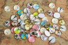 50PCS Round Mixed Photos Domed Glass Cabochon Cover (6 sizes)