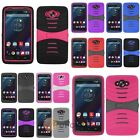 For Motorola Droid Turbo Cover Kickstand Hybrid Case w/ Screen Installed