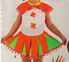 Clown Dance Costume Collar and 2 Layer Skirt Pompom trim Small child girls