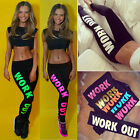 Women Capri YOGA Running Sport Pants High Waist Cropped Leggings Fitness Trouser