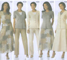Womens Top Jacket Pants Skirt Sewing Pattern Darts Tabs Button Simplicity 5104