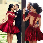 NEW Women's Sexy Backless Gauze Splice Lace Dress Cocktail Party Dress S M L XL
