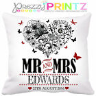 ❤ PERSONALISED Cushion Wedding Anniversary Gift Valentines Christmas Love Home ❤