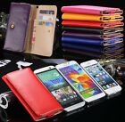 Flip Wallet Leather Case Pouch Card Holder Purse Skin Cover for Various Phones