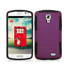 Straight Talk LG Access L31G MESH Hybrid Silicone Rubber Skin Phone Case Cover