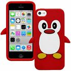 Cartoon Animal Penguin Silicone Rubber Gel TPU Case Cover Skin for iPhone 5 5S