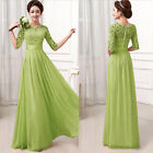 Free Ship Long Chiffon Wedding Evening Formal Party Ball Gown Prom Bridesmaid